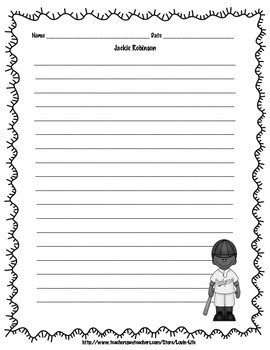 Jackie Robinson Writing Activity FREEBIE of the WEEK!