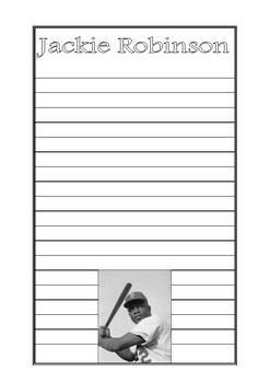 Jackie Robinson Writing Paper