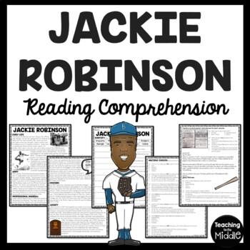 Jackie Robinson Biography Reading Comprehension Worksheet