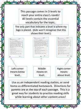 Jackie Robinson fluency and comprehension leveled passages