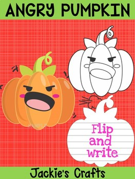 Jackie's Crafts - Angry Pumpkin Craftivity, Writing Activity, Halloween and Fall