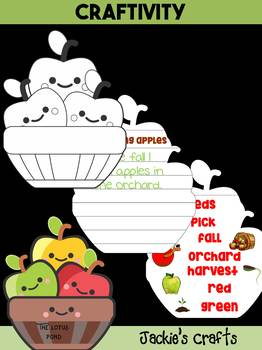 Jackie's Crafts - Apple Craftivity, apples, Fall Activity, Johnny Appleseed