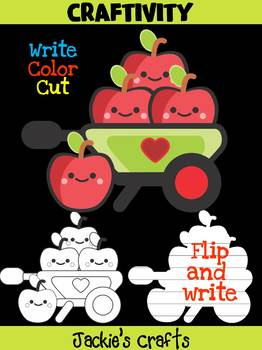 Jackie's Crafts - Apple Wagon Craftivity, Writing, Activity, Johnny Appleseed
