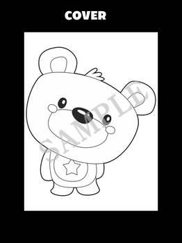 Jackie's Crafts - Bear Craftivity, Bears, Autumn, Fall, Cut, Color, Write, Draw