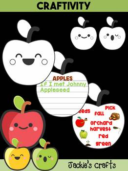 Jackie's Crafts - Cute Apple Craftivity, apples, Fall Activity, Johnny Appleseed