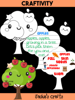 Jackie's Crafts - Apple Tree Craftivity, Writing Activity, Johnny Appleseed