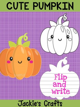 Jackie's Crafts - Cute Pumpkin Craftivity, Writing Activity, Halloween Fall