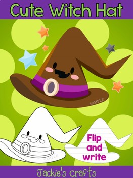 Jackie's Crafts - Cute Witch Hat Craftivity, Activity, Halloween, Witches