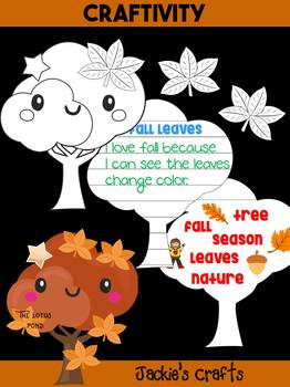 Jackie's Crafts - Fall Tree and Leaves Craftivity, Autumn Activity, write, color