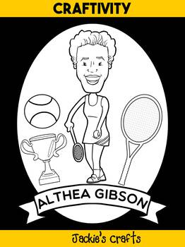 Jackie's Crafts - Biography Craft Activity Book - Althea Gibson