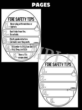 Jackie's Crafts- Fire Safety Craft Activity Book - Fire Prevention Week Activity