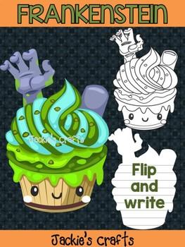 Jackie's Crafts - Frankenstein Cupcake Craftivity, Activity, craft, Halloween