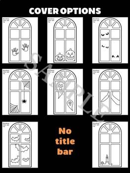 Jackie's Crafts - Halloween Haunted House Windows 2 Craftivity, Writing Activity