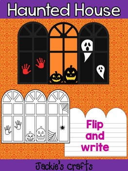Jackie's Crafts - Halloween Haunted House Windows Craftivity, Writing Activity