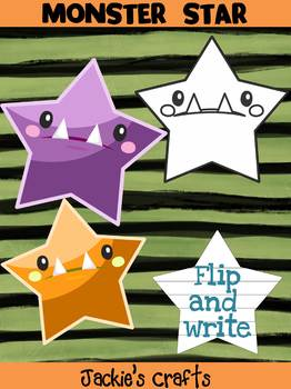 Jackie's Crafts - Halloween  Monster Star Craftivity, Writing Activity