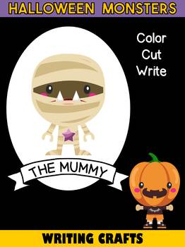Jackie's Crafts - Halloween Monsters Writing Crafts SET - 11 Monsters in All
