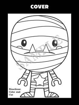 Jackie's Crafts - Halloween Mummy Craftivity, Monster Writing Activity