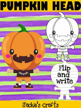 Jackie's Crafts - Halloween  Pumpkin Head Craftivity, Writing Activity
