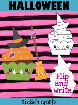 Jackie's Crafts - Halloween Witch Cupcake Craftivity, Writing Activity