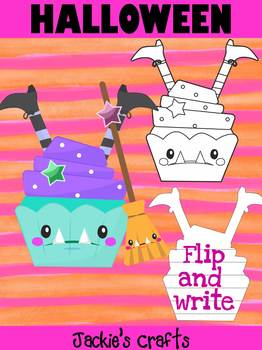 Jackie's Crafts - Halloween Witch in a Cupcake Craftivity, Writing Activity