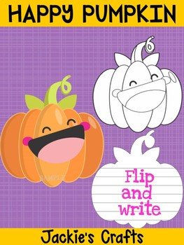 Jackie's Crafts - Happy Pumpkin Craftivity, Writing Activity, Halloween and Fall
