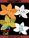 Jackie's Crafts - Leaf Craft 2, Fall Activity, writing, leaves, autumn