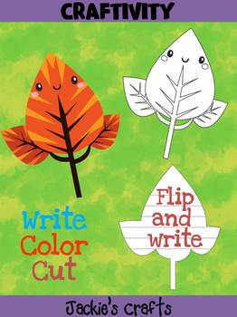 Jackie's Crafts - Leaf Craft, Fall Activity, writing, leaves, autumn, season
