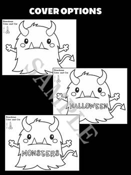 Jackie's Crafts - Monster Craftivity 2, Halloween Monsters Writing Activity