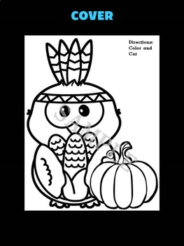 Jackie's Crafts -  Native American Owl Harvest Craftivity, Thanksgiving Activity