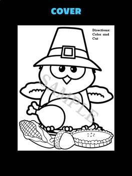 Jackie's Crafts -  Pilgrim Owl Thanksgiving Dinner Craftivity - Craft Activity