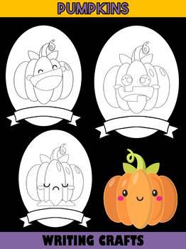 Jackie's Crafts - Pumpkin Writing Crafts SET - 6 Kinds of Pumpkins in All