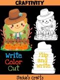 Jackie's Crafts - Scarecrow Craft, Fall Activity, Writing, halloween, autumn