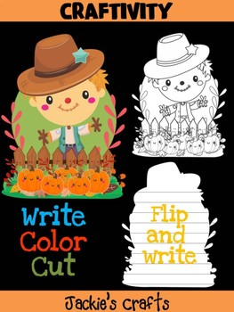 Jackie's Crafts - Scarecrow Craft, Fall Activity, Writing, halloween, autumn