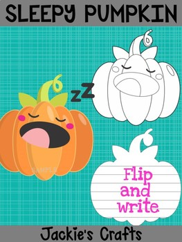 Jackie's Crafts - Sleepy Pumpkin Craftivity, Writing Activity, Halloween Fall