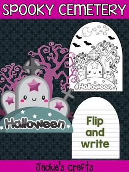 Jackie's Crafts - Spooky Cemetery Craftivity, Activity, craft, Halloween