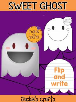 Jackie's Crafts - Sweet Ghost Craftivity, Activity, Halloween Writing