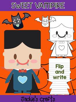 Jackie's Crafts - Sweet Vampire and Bats Craftivity, Activity, Halloween Writing