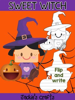 Jackie's Crafts - Sweet Witch Craftivity, Activity, Halloween Writing