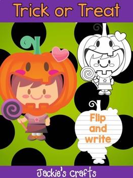 Jackie's Crafts - Treat or Treat Girl Craftivity, Activity, craft, Halloween