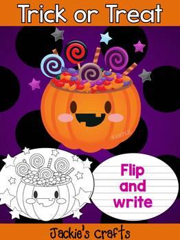 Jackie's Crafts - Treat or Treat Pumpkin Blast Craftivity, Activity, Halloween