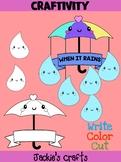 Jackie's Crafts - Umbrella Rain Drops Craftivity, Mobile, Activity, craft