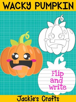 Jackie's Crafts - Wacky Pumpkin Craftivity, Writing Activity, Halloween and Fall