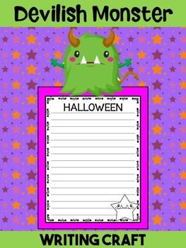 Jackie's Crafts- Writing Craft - Halloween Devilish Monster Activity, Craftivity