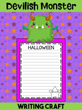 Jackie's Crafts- Writing Craft - Halloween Devilish Monster Activity, Craftivity