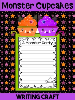 Jackie's Crafts- Writing Craft - Halloween Monster Cupcakes Activity, Craftivity