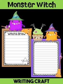Jackie's Crafts- Writing Craft - Halloween Monster Witch Activity, Craftivity