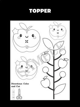 Jackie's Crafts - Writing Craftivity - Apples 2, apple, fall, johnny appleseed