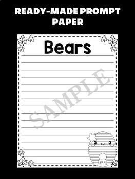Jackie's Crafts - Writing Craftivity - Bear, editable, bears, fall, autumn
