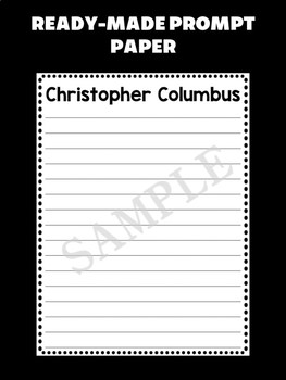Jackie's Crafts - Writing Craftivity - Christopher Columbus, Columbus Day