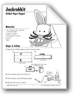 Jackrabbit Folded Paper Puppet